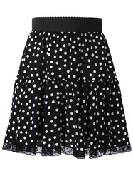 Dolce And Gabbana Polka Dot Skirt Black