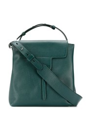 Tod's Structured Tote Bag Green