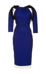 Emilio De La Morena Elimanjaro Fitted Pencil Dress Blue