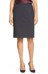 Women's Boss 'Vilea' Stretch Wool Pencil Skirt Navy