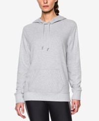 Under Armour French Terry Hoodie Air Force Gray Heather