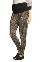 The Urban Ma Print Maternity Pants Abstract Graphic Print