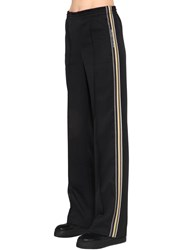 Prada Side Band Jersey Track Pants Black