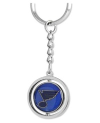 Aminco St. Louis Blues Rubber Puck Spinning Key Ring Team Color