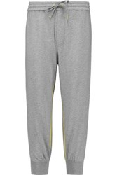 Marc By Marc Jacobs Cropped Cotton Jersey Track Pants Gray