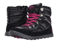 The North Face Thermoball Lace Shiny Tnf Black Luminous Pink Women's Cold Weather Boots