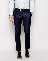 Selected Navy Tuxedo Trouser In Skinny Fit