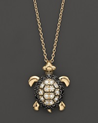 Bloomingdale's Diamond Turtle Pendant In 14K Yellow Gold 0.15 Ct. T.W. No Color