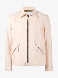 Our Legacy Collared Zip Up Jacket Nude Neutrals