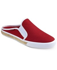 Tommy Hilfiger Frank Slip On Sneakers Women's Shoes Dark Red