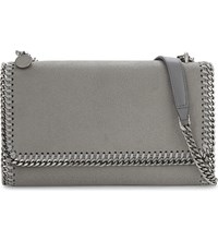 Stella Mccartney Falabella Faux Leather Shoulder Bag Light Grey