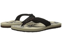 Quiksilver Carver Suede Art Tan Pattern Men's Sandals Black