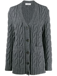 Pringle Of Scotland Cable Knit Cardigan Grey