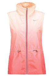 Nike Performance Gradient Waistcoat Daring Red Sunset Glow Reflective Silver Light Red