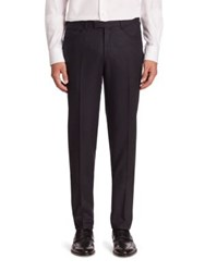 Pal Zileri Western Front Virgin Wool And Cashmere Pants Blue