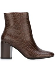 Paul Smith Ps By 'Sinah' Ankle Boots Brown