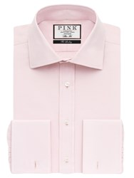 Thomas Pink Frederick Plain Double Cuff Slim Fit Shirt Pink