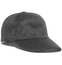 Loro Piana Storm System Baby Cashmere Baseball Cap Charcoal