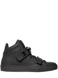 Giacomorelli Matte Leather High Top Sneakers