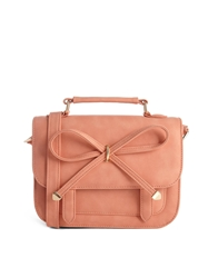 Asos Bow Satchel Bag Coral
