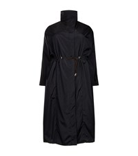 Marina Rinaldi Drawstring Waist Raincoat Black
