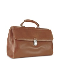 Robe Di Firenze Brown Medium Genuine Italian Leather Doctor Bag