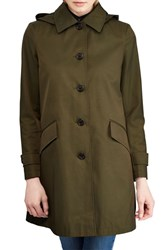 Lauren Ralph Lauren Hooded Raincoat Loden