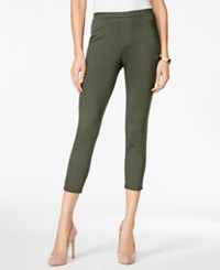 Style And Co Twill Capri Leggings Only At Macy's Olive Spring