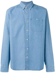 A Kind Of Guise Button Down Denim Shirt Blue