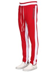 Renowned Paradise Embroidered Tech Track Pants