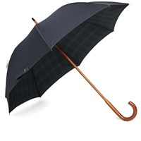 London Undercover Classic Solid Stick Umbrella Blue