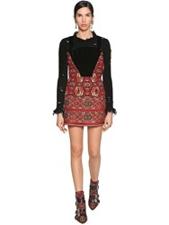 Etro Jacquard And Velvet Corset Mini Dress Multicolor