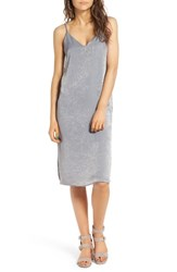 Soprano Women's Satin Slipdress Light Grey