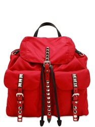 Prada Nylon Canvas Backpack Red