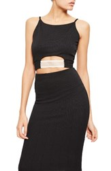 Missguided Women's Elastic Contrast Cutout Crop Top