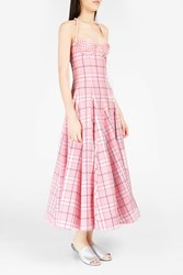 Natasha Zinko Women S Plaid Brocade Detailed Corset Dress Boutique1 Pink