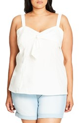 City Chic Plus Size Women's Sweetie Bow Top