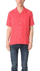 Levi's Made And Crafted Ditsy Floral Short Sleeve Shirt Red