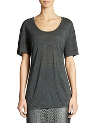 424 Fifth Relaxed Hint Of Metallic Tee Charcoal Heather