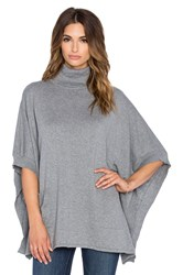 Bobi Turtleneck Poncho Gray
