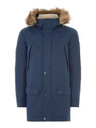 Duck And Cover Enforce Down Filled Arctic Parka Coat French Navy