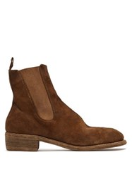 Guidi Suede Chelsea Boots Tan