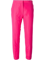 Rochas Cropped Trousers Pink And Purple
