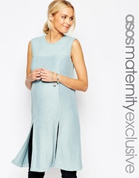 Asos Maternity Textured Tunic With Split Front Mint