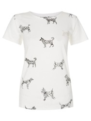 People Tree Doodle Dogs Tee White