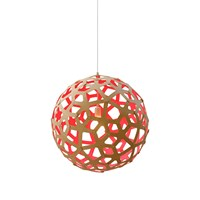 David Trubridge Coral Light Natural Red 80Cm