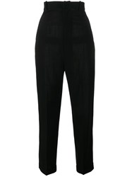 Jacquemus Tapered High Waist Trousers Black