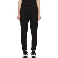 Polythene Optics Black Fleece Logo Lounge Pants