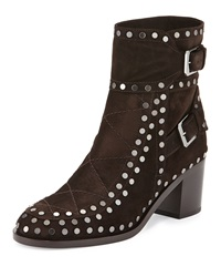 Gatsby Studded Ankle Boot Dark Brown Laurence Dacade
