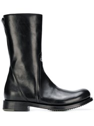 Rick Owens Smooth Ankle Boots Black